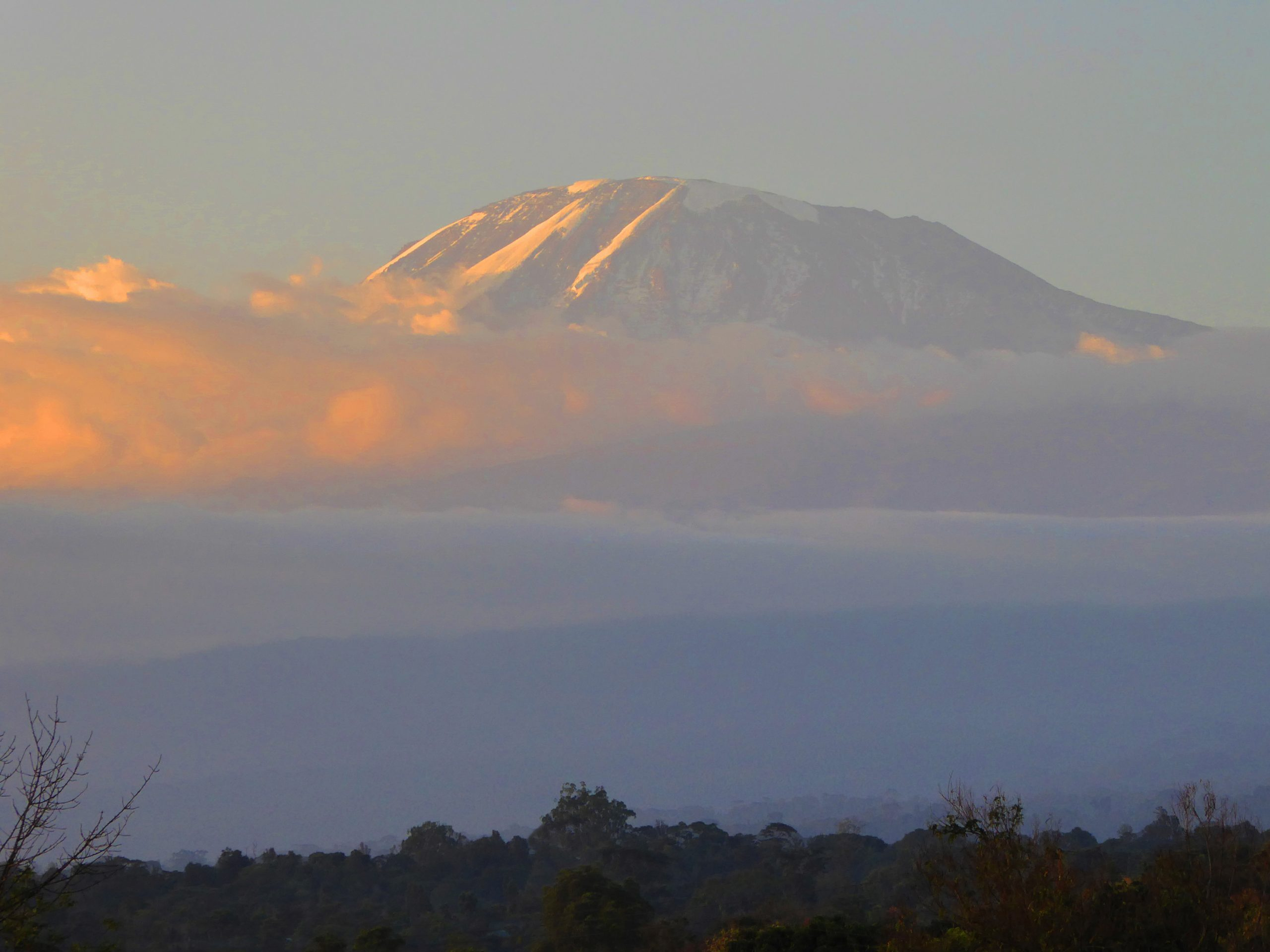 Radreise Afrika 2014 - Kilimanjaro - Sonnenuntergang