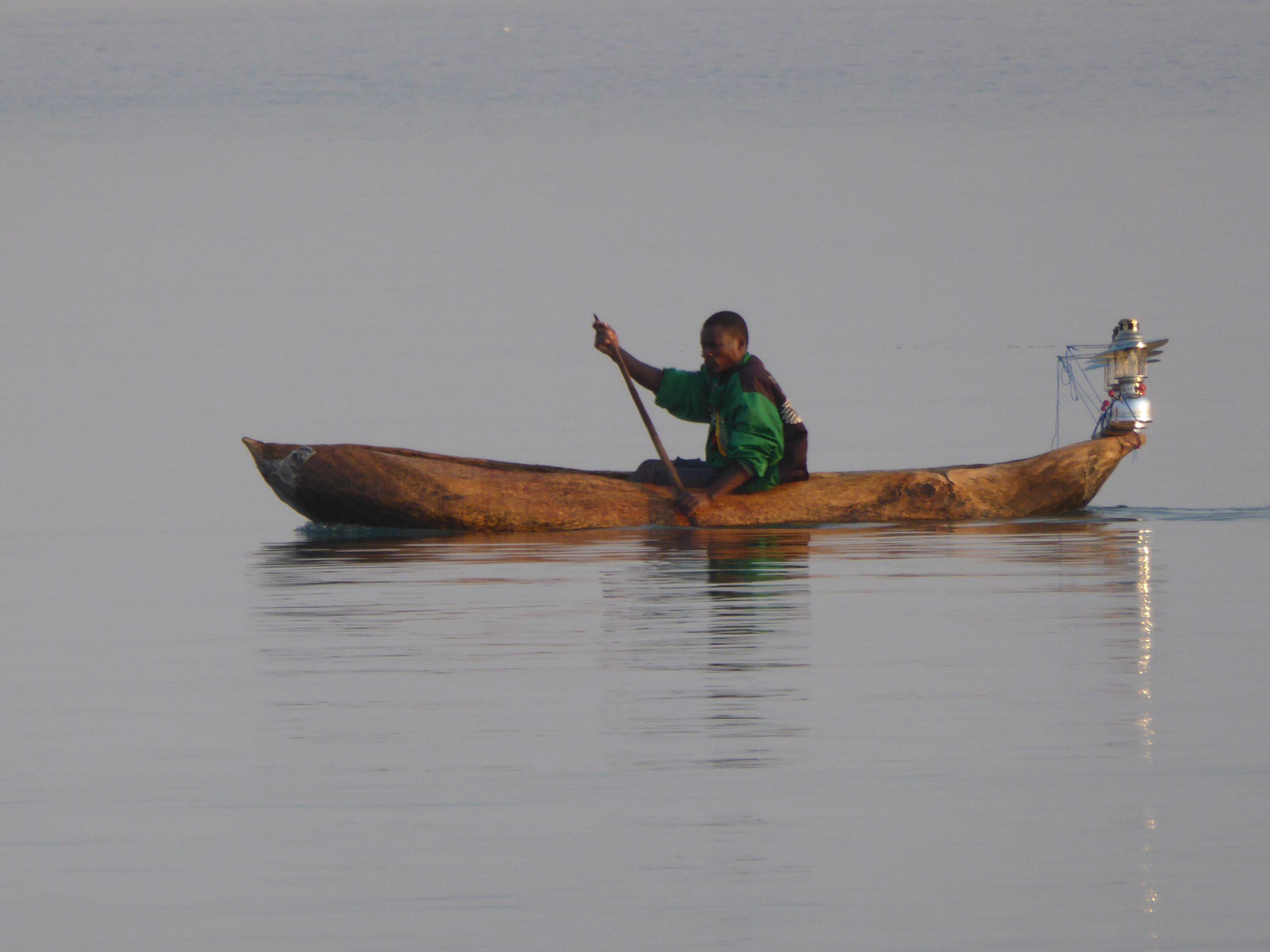 Radreise Afrika 2014 - Fischer am Lake Malawi