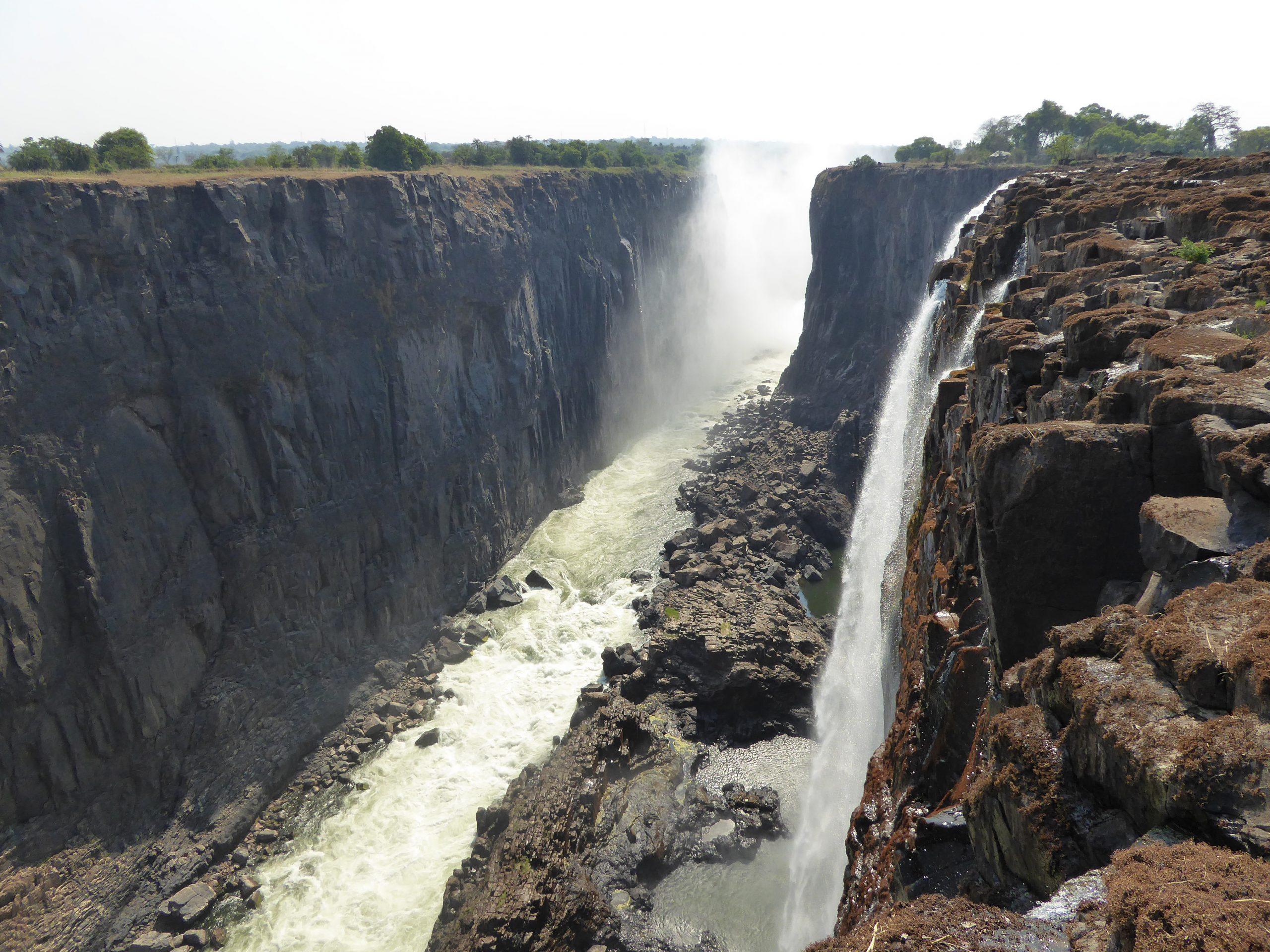 Radreise Afrika 2014 - Sambesi-Schlucht bei den Victoria Falls
