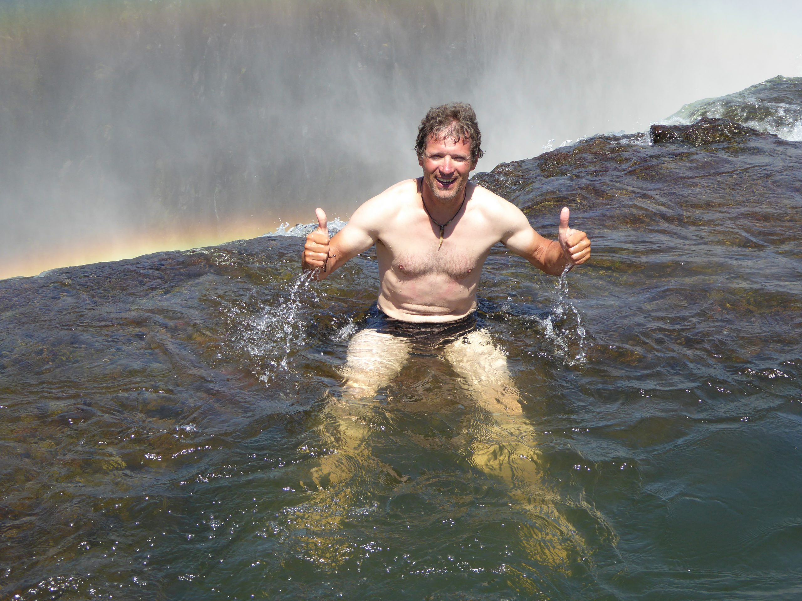 Radreise Afrika 2014 - Victoria Falls - Teufelspool