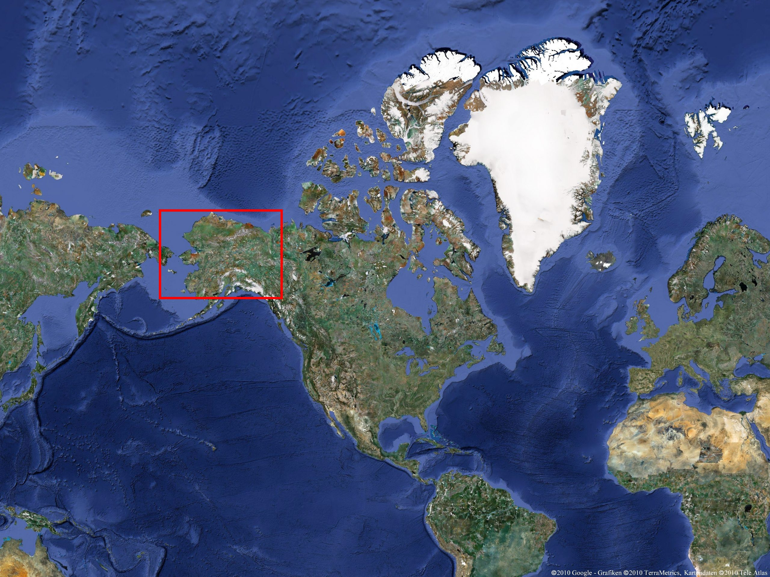 Radreise Alaska 2010 - Weltkarte