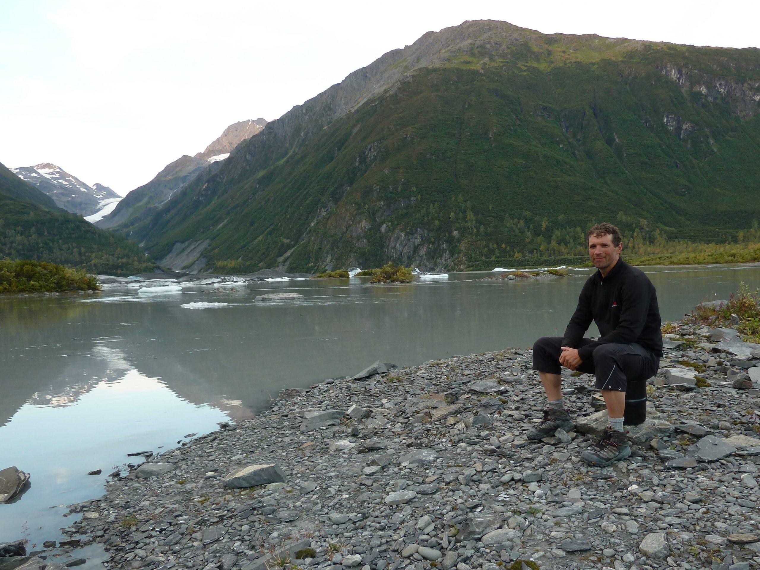 Radreise Alaska 2010 - Zeltplatz am Valdez Glacier
