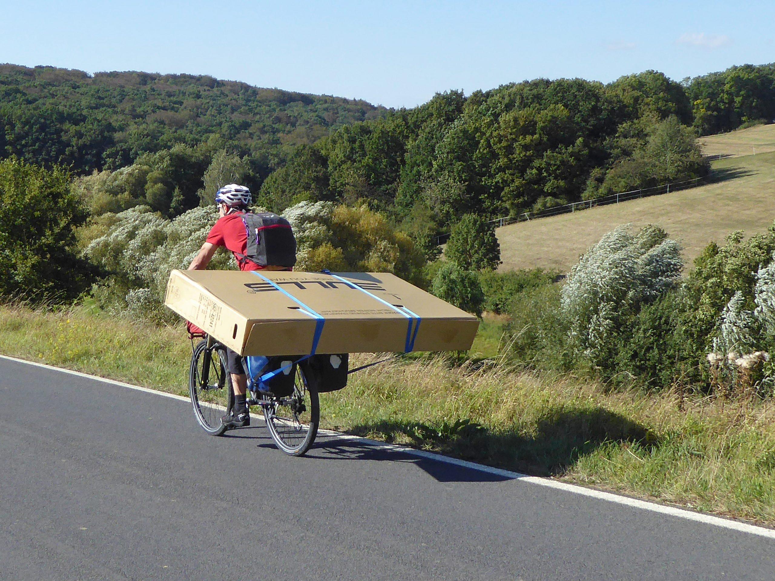 Radreise Australien 2016 - Fahrt zum Bahnhof Schweinfurt