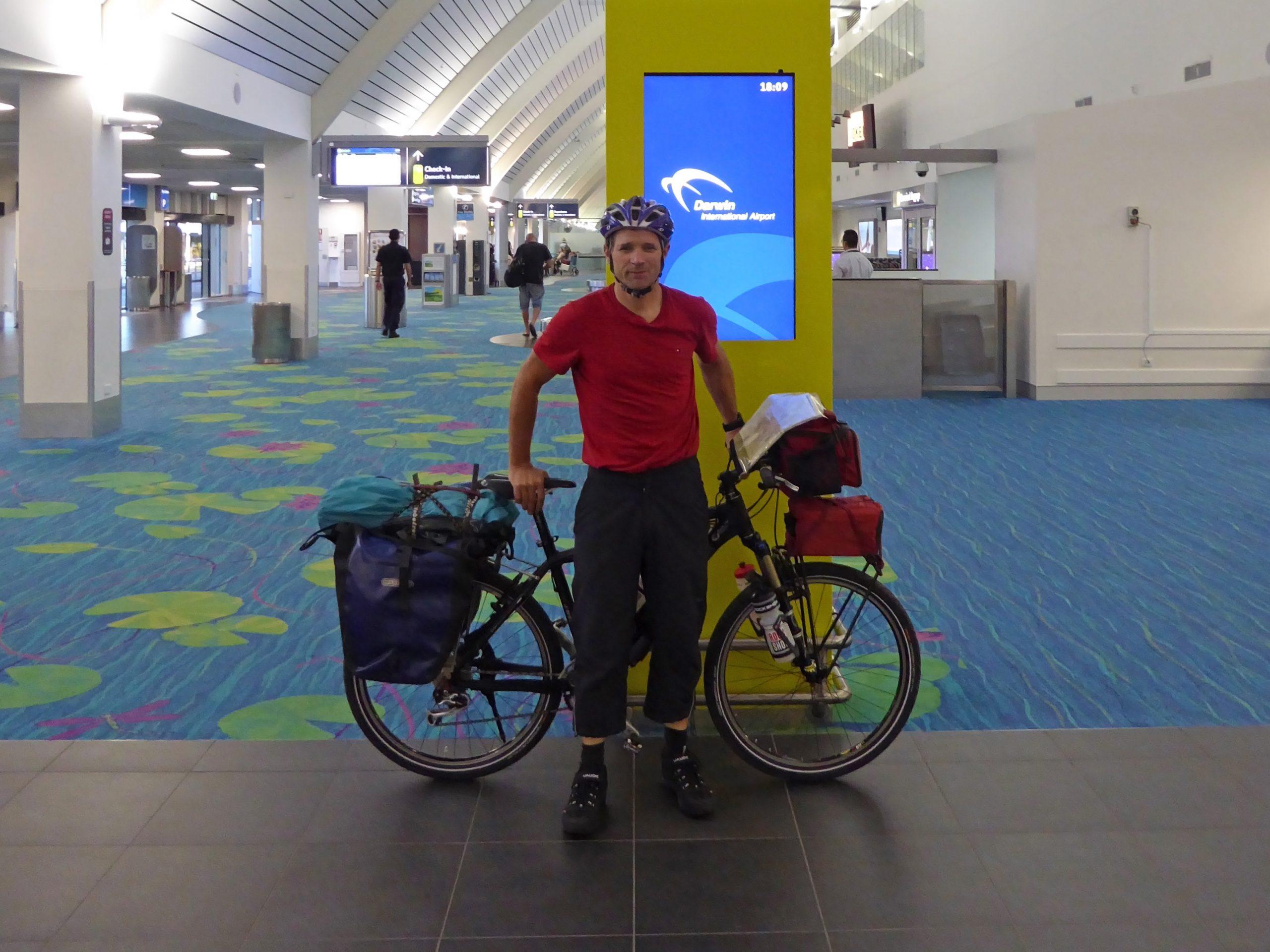 Radreise Australien 2016 - Abfahrt Darwin Airport