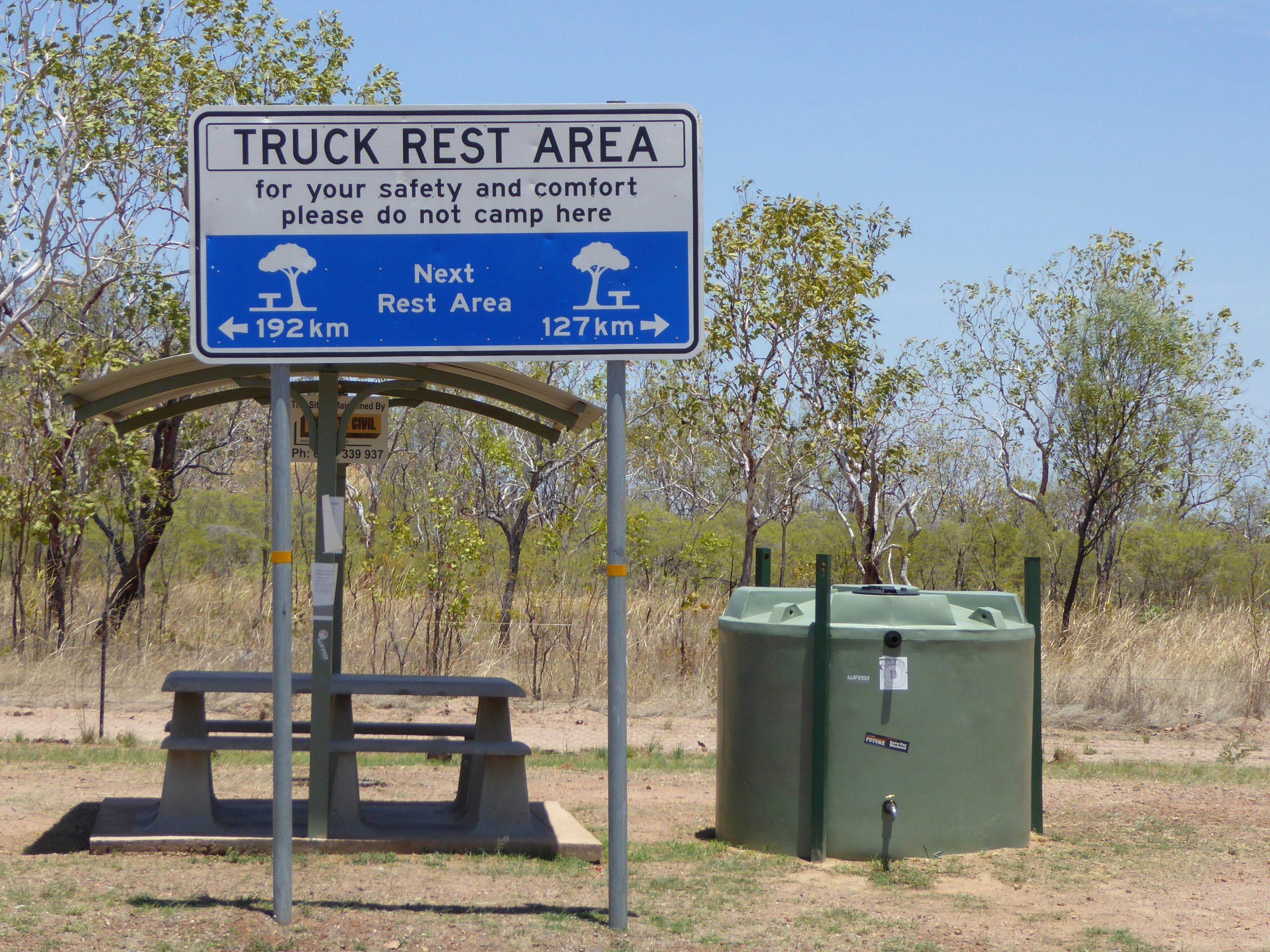 Radreise Australien 2016 - Stuart-Highway - Rastplatz