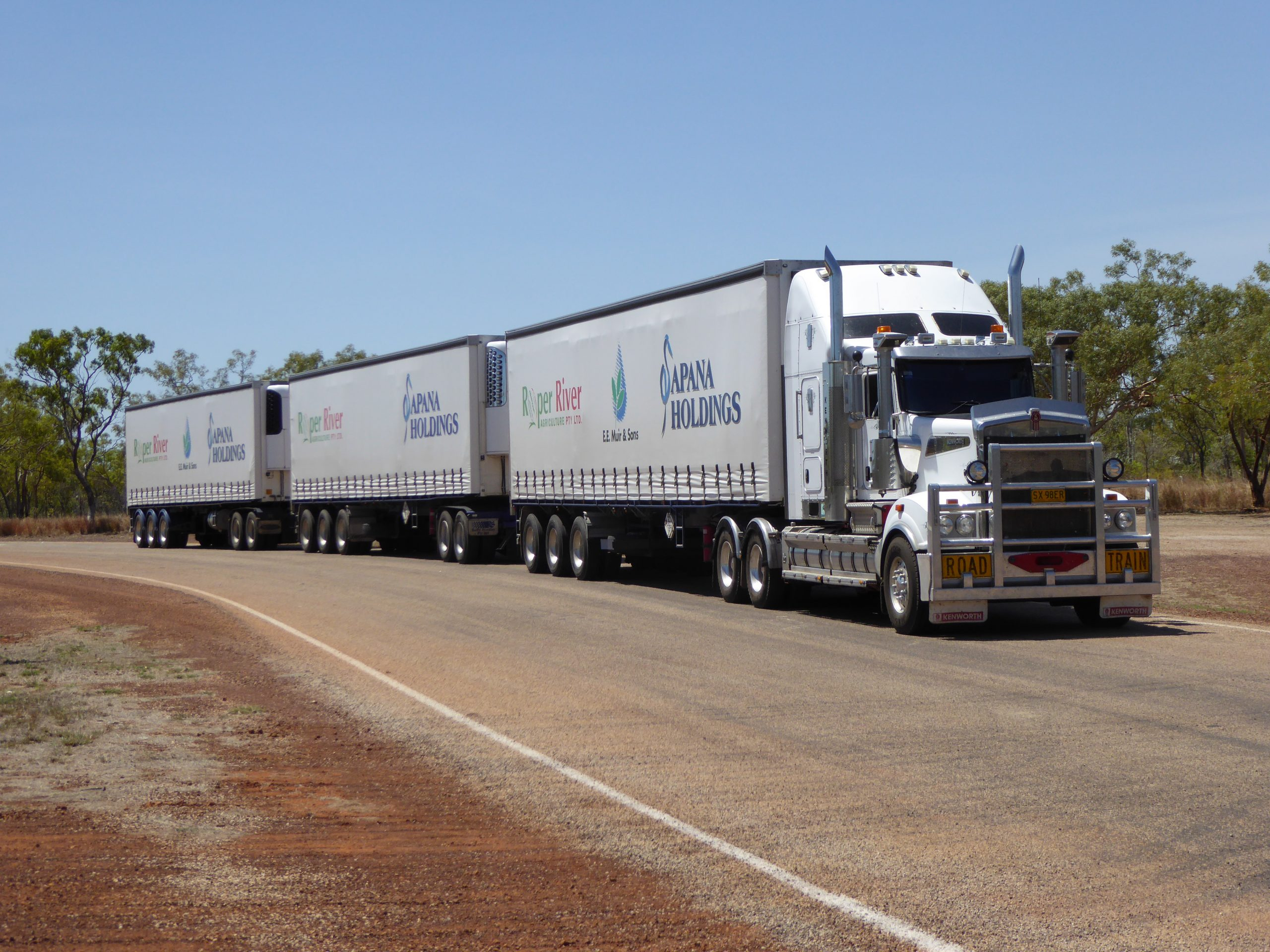 Radreise Australien 2016 - Stuart Highway - Road Train
