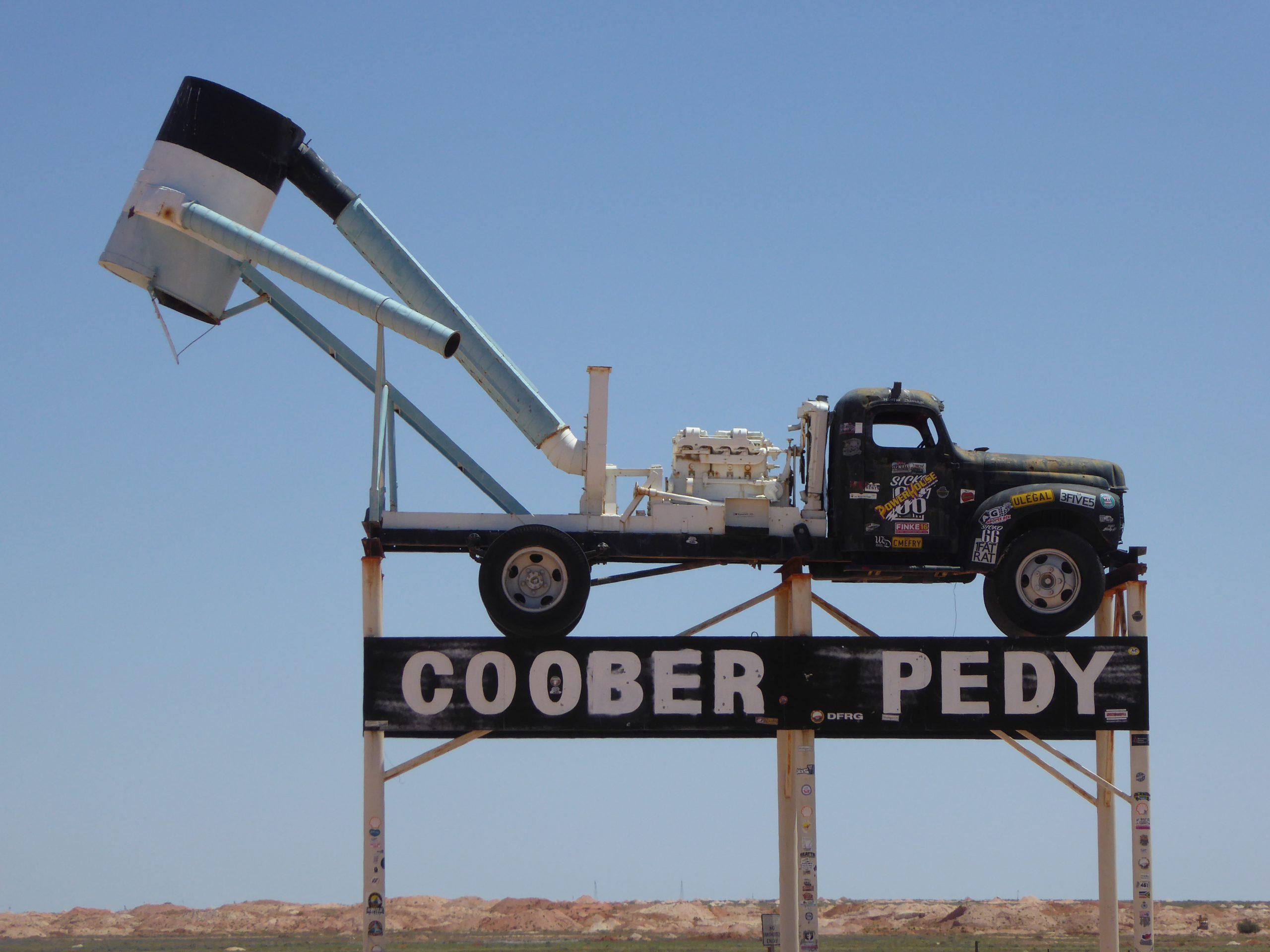 Radreise Australien 2016 - Coober Pedy - The Blower