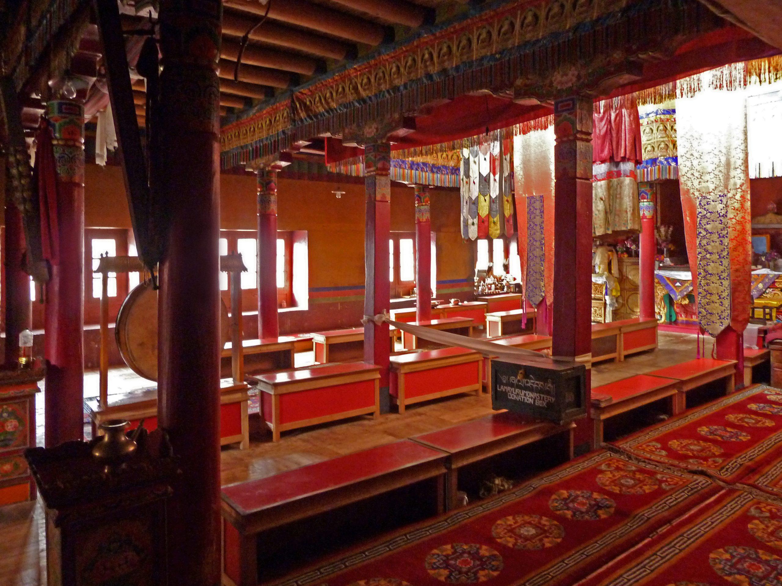 Radreise Ladakh 2012 - Kloster Lamayuru - Versammlungsraum der Mönche (Dukhang)