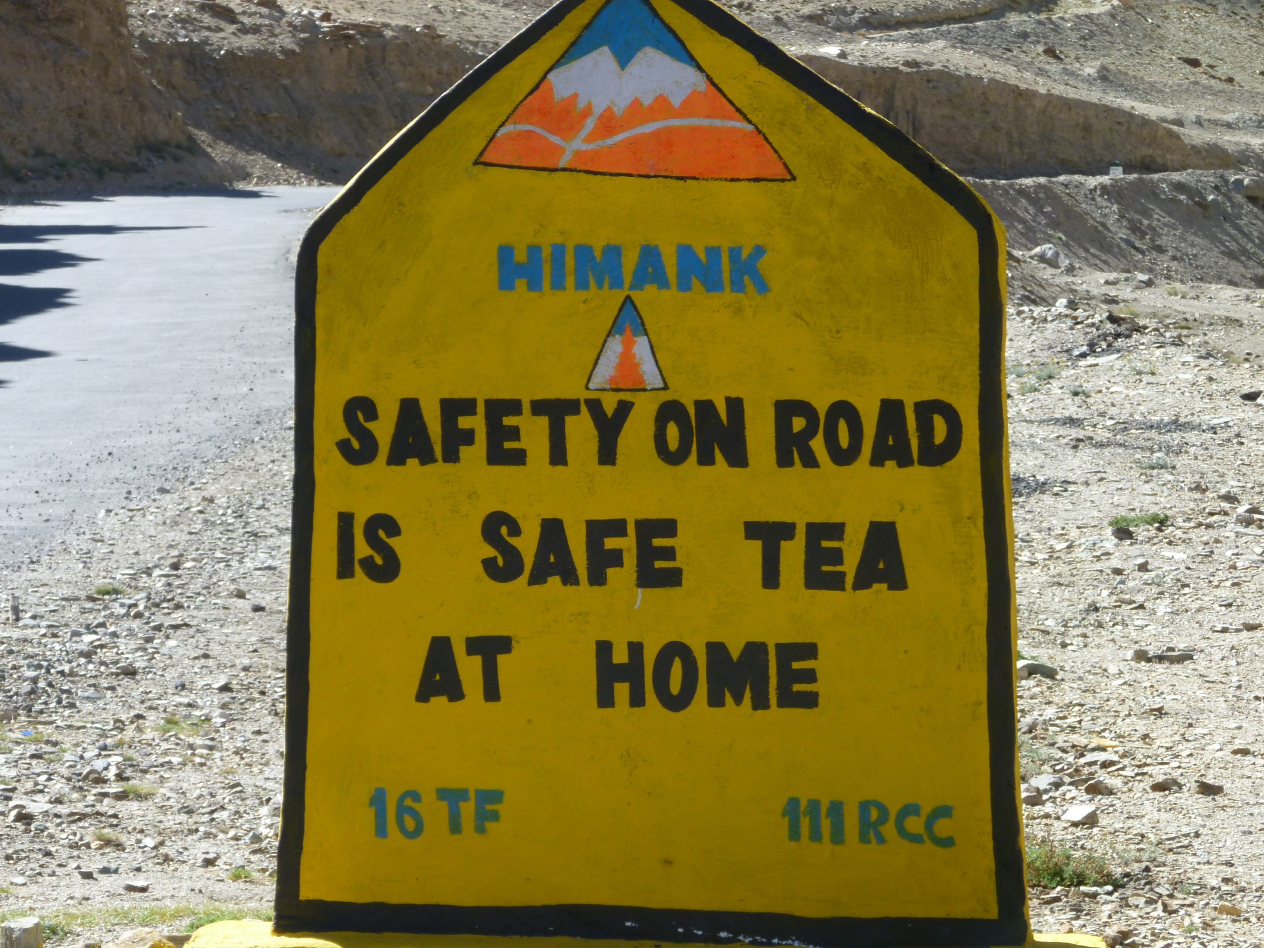 Radreise Ladakh 2012 - Himank-Hinweistafel