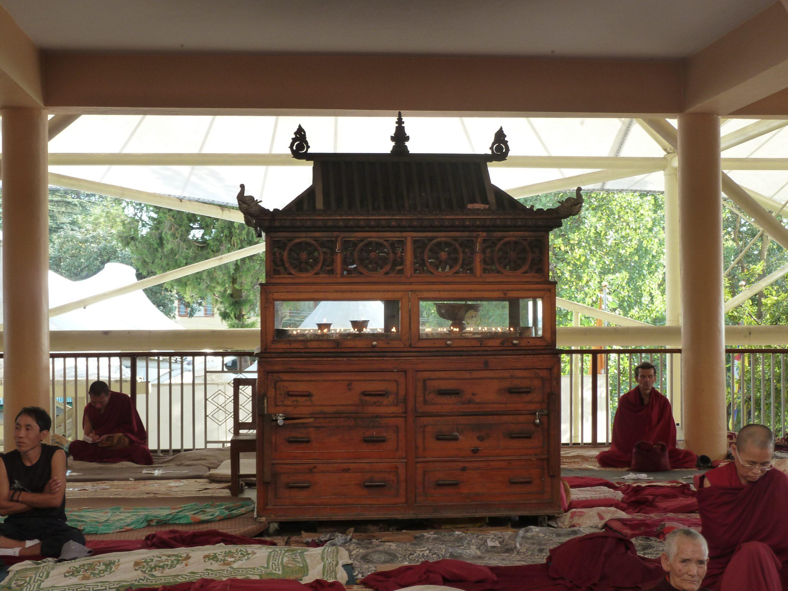 Radreise Ladakh 2012 - Dharamsala - Dalai-Lama - Teaching im Namgyal-Kloster