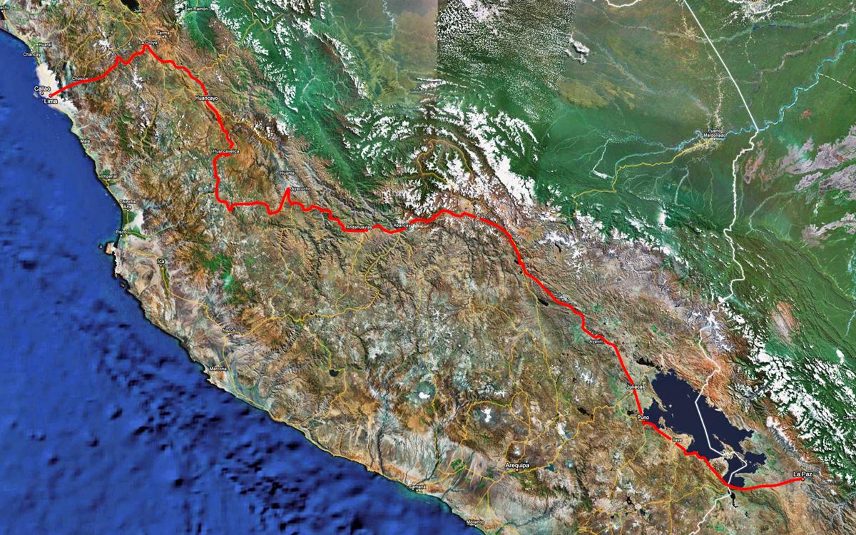 Radreise Peru 2008 - Radroute
