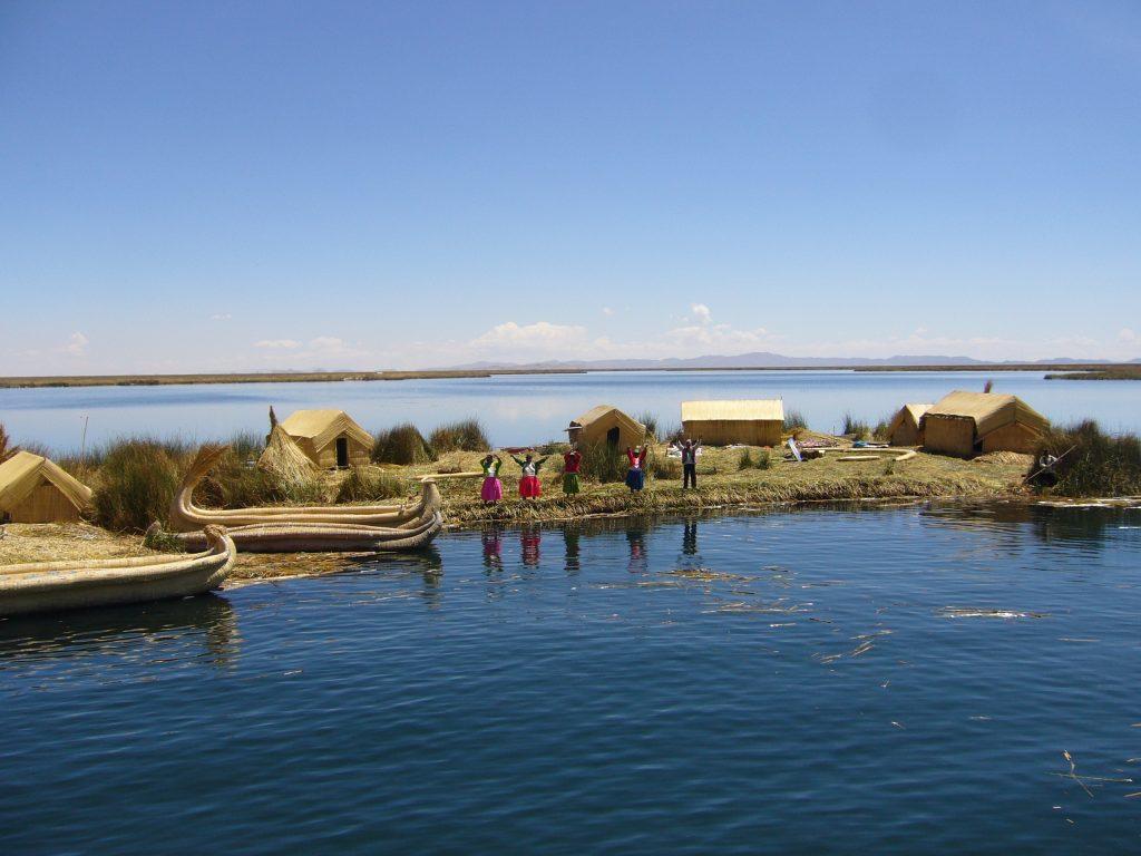 Radreise Peru 2008 - Titicacasee - Schwimmende Inseln der Uros