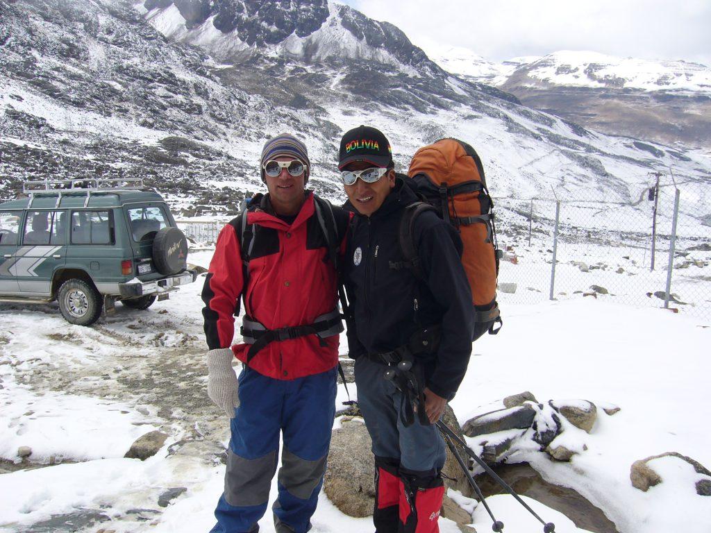 Radreise Peru 2008 - Zongo-Pass (4.764m) - Aufstieg zum Huayna Potosi (6.088m)