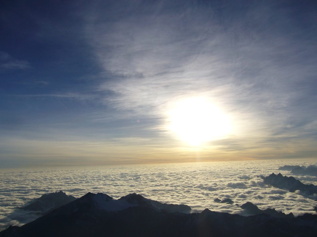 Radreise Peru 2008 - Sonnenaufgang am Huayna Potosi (6.088m)