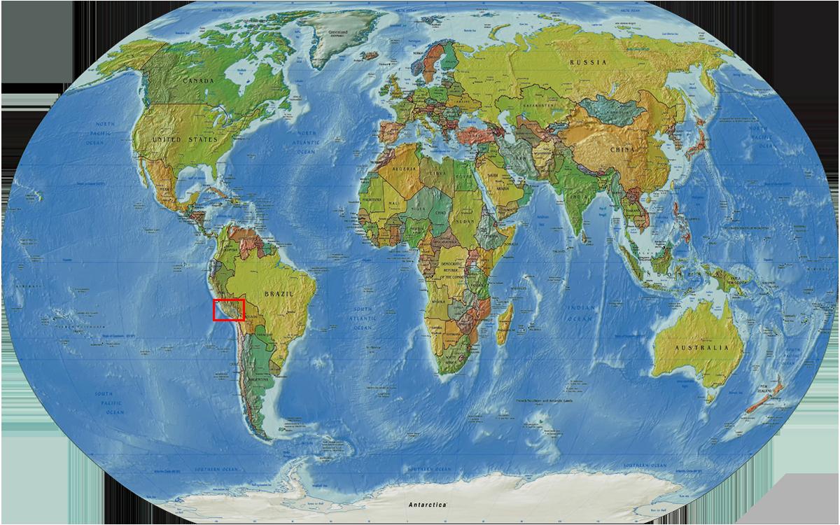 Radreise Peru 2008 - Weltkarte