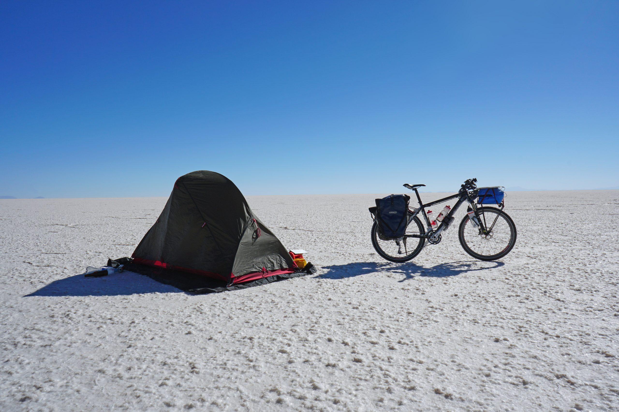 Radreise Südamerika 2019 - Salar de Uyuni - Zeltplatz
