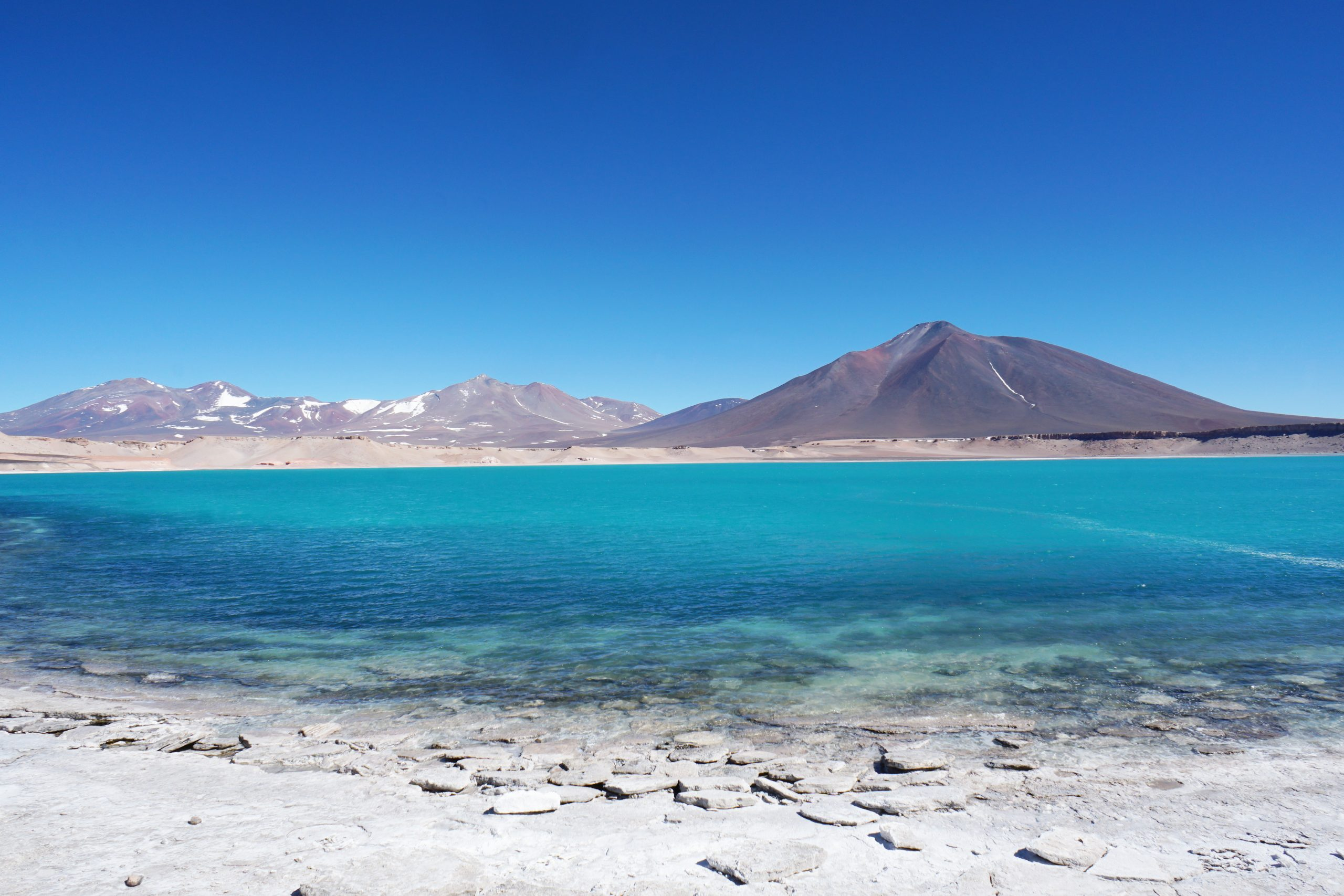 Radreise Südamerika 2019 - Laguna Verde mit Cerro Laguna Verde (5.880m)