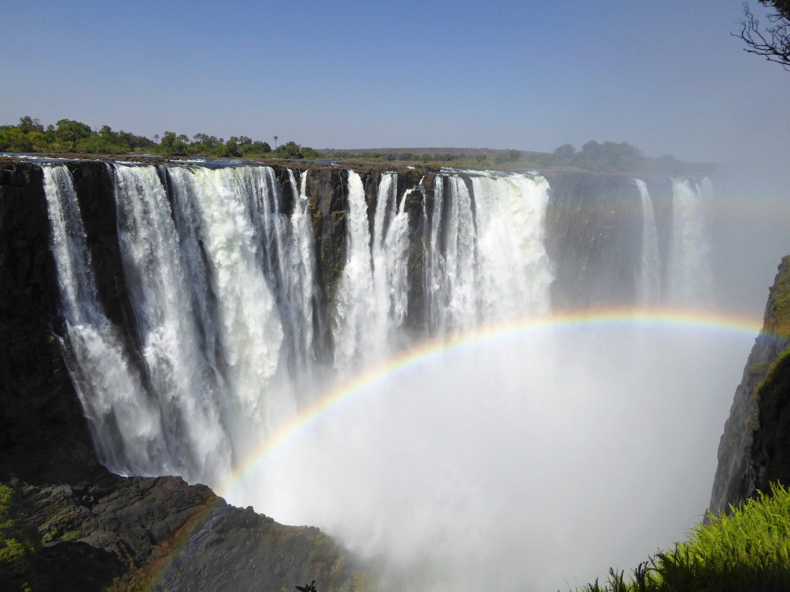 Radreise Afrika 2014 - Victoria Falls - Regenbogen