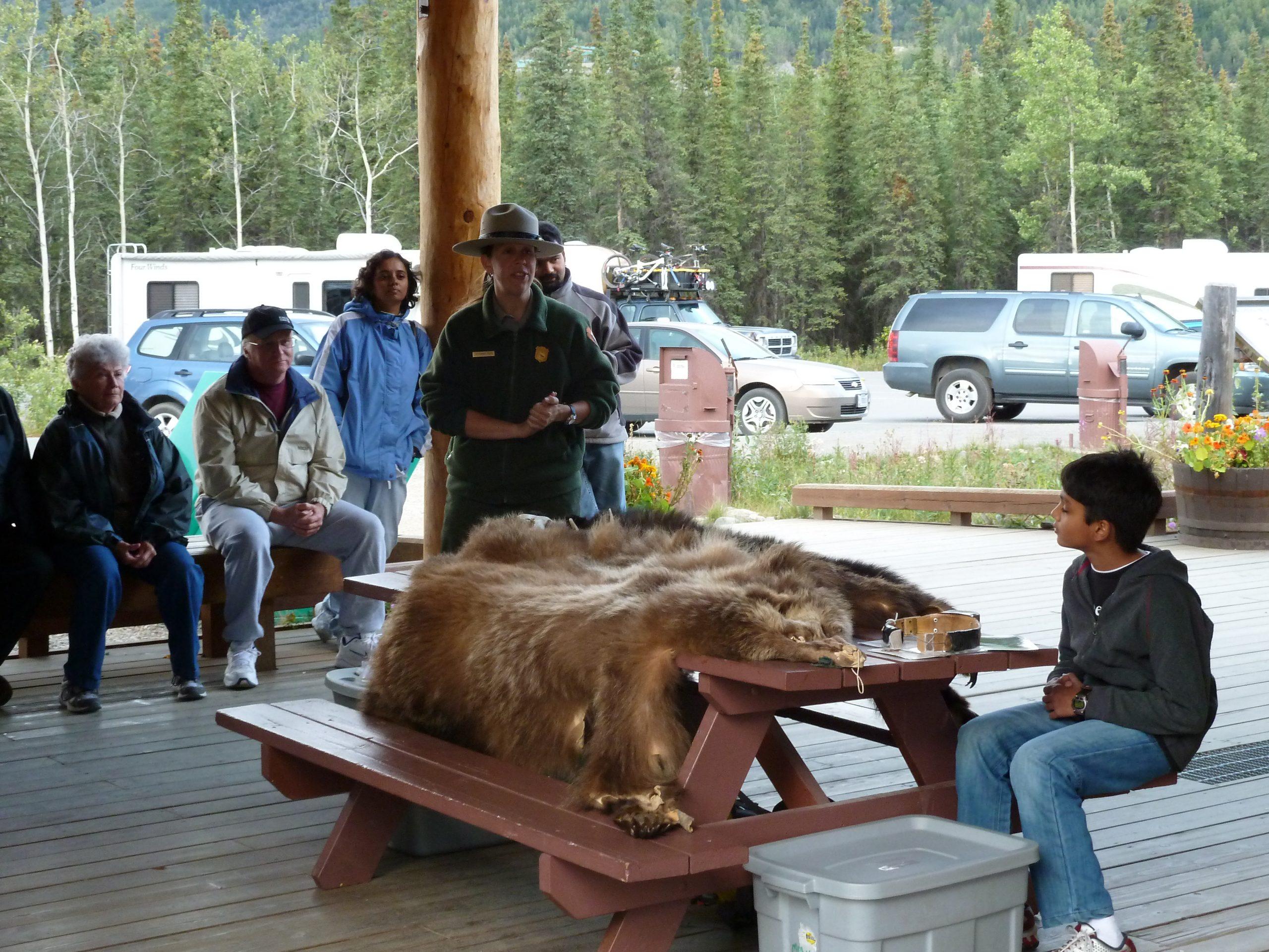 Radreise Alaska 2010 - Denali-NP - Bären-Schulung
