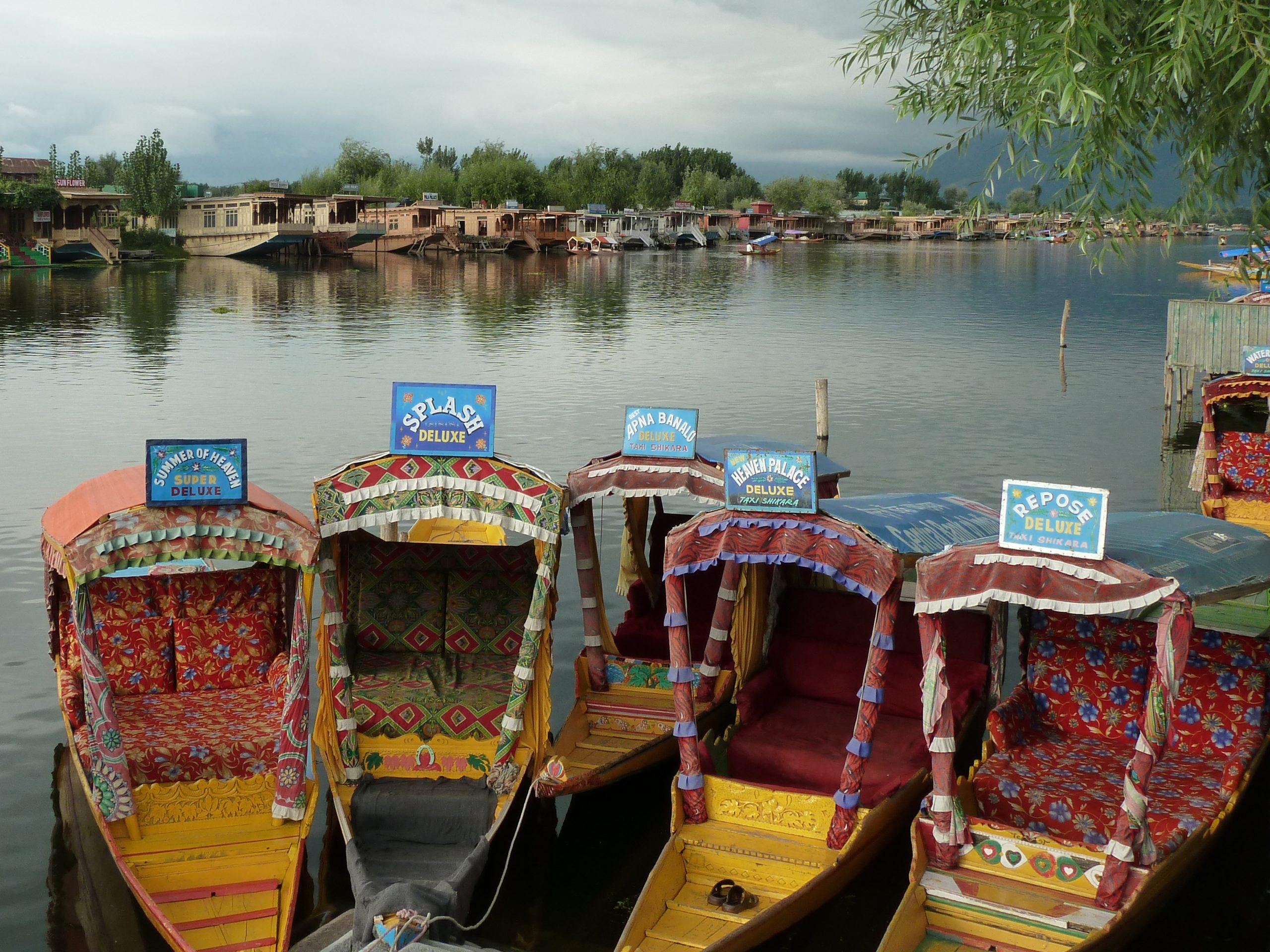Radreise Ladakh 2012 - Shikaras und Hausboote auf dem Dal-See