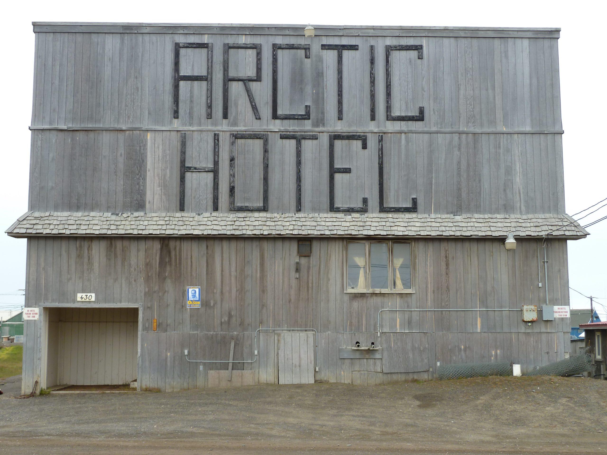Radreise Alaska 2010 - Altes Hotel in Barrow