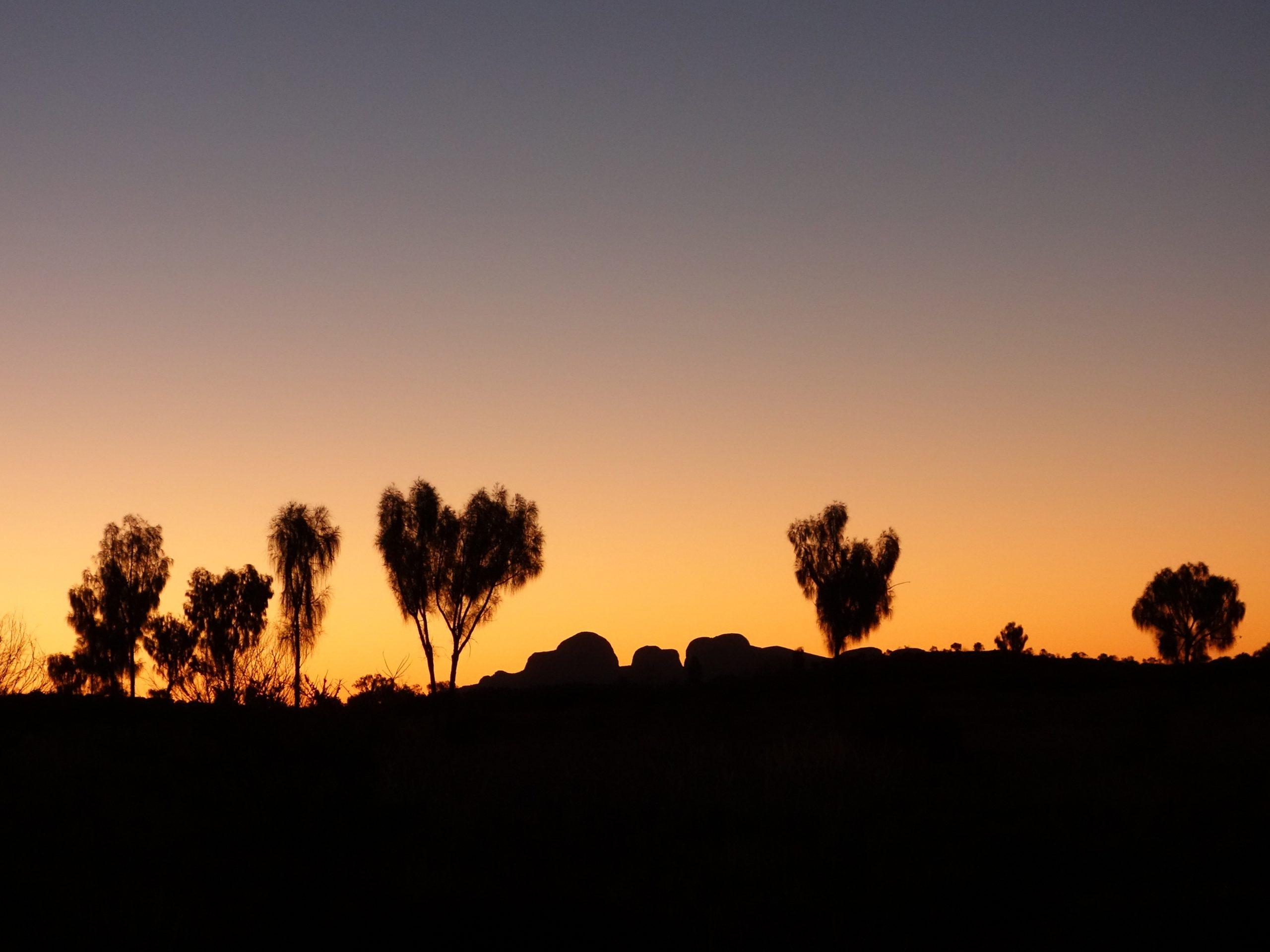 Radreise Australien 2016 - Kata Tjuta - Sonnenuntergang