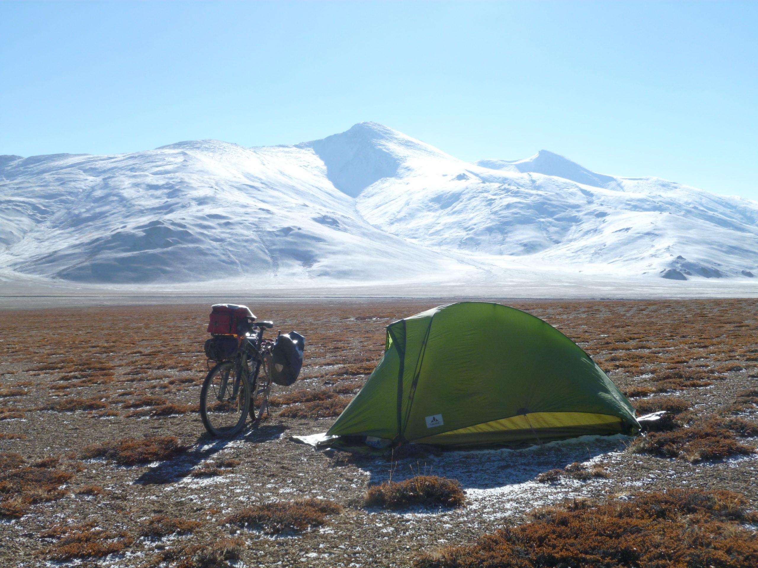 Radreise Ladakh 2012 - Zeltplatz auf der More-Plains (4.800m)
