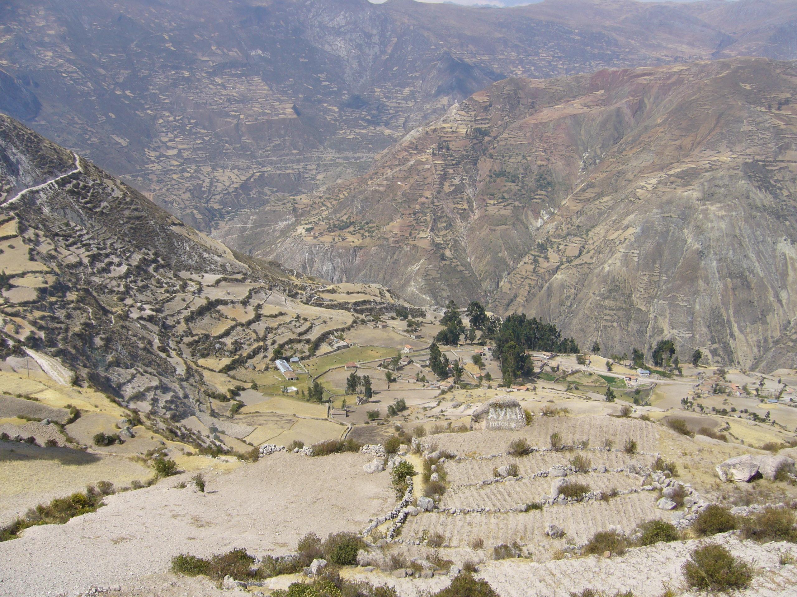 Radreise Peru 2008 - Terrassenfelder, Andenes