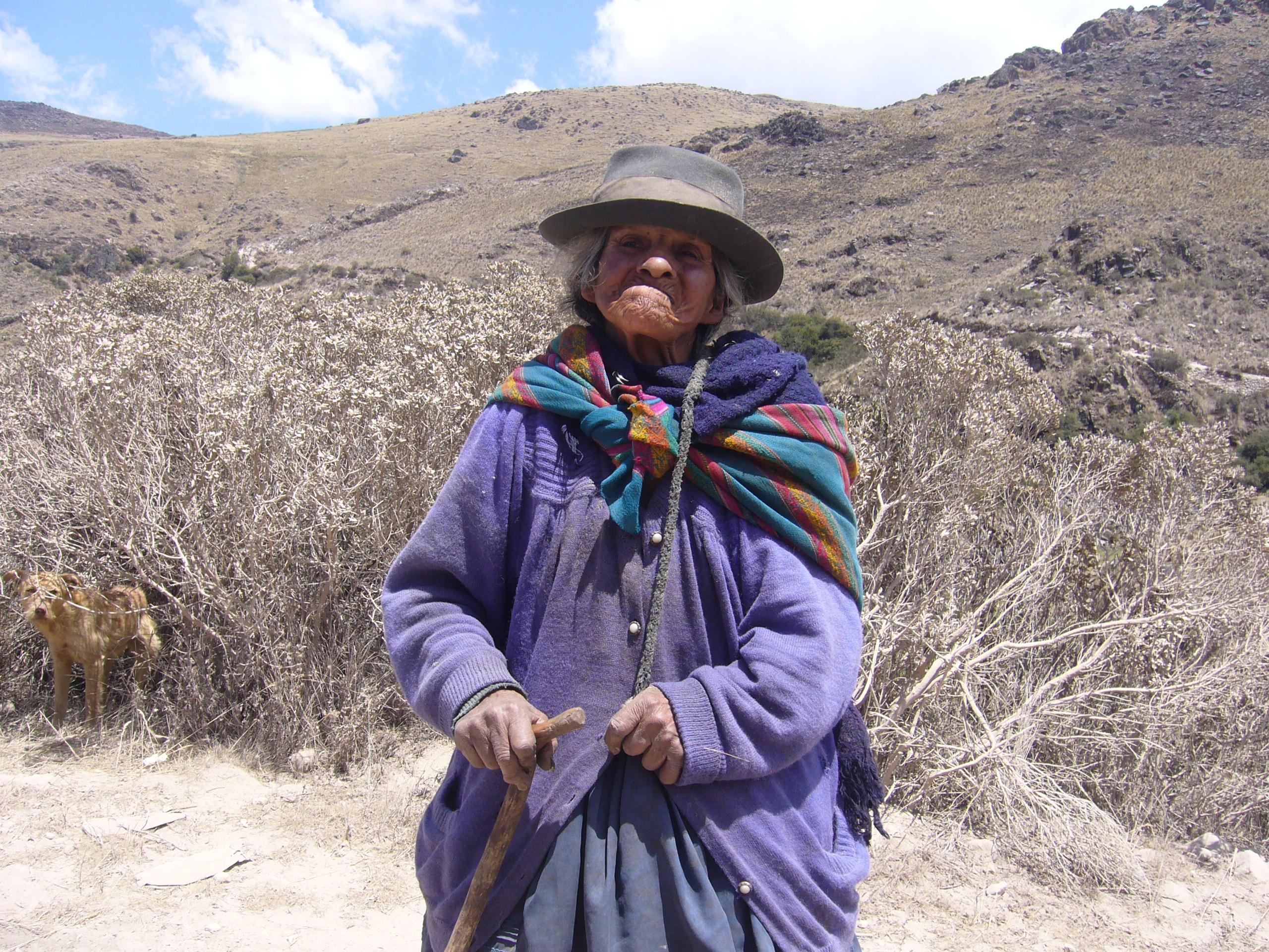 Radreise Peru 2008 - Alte Frau