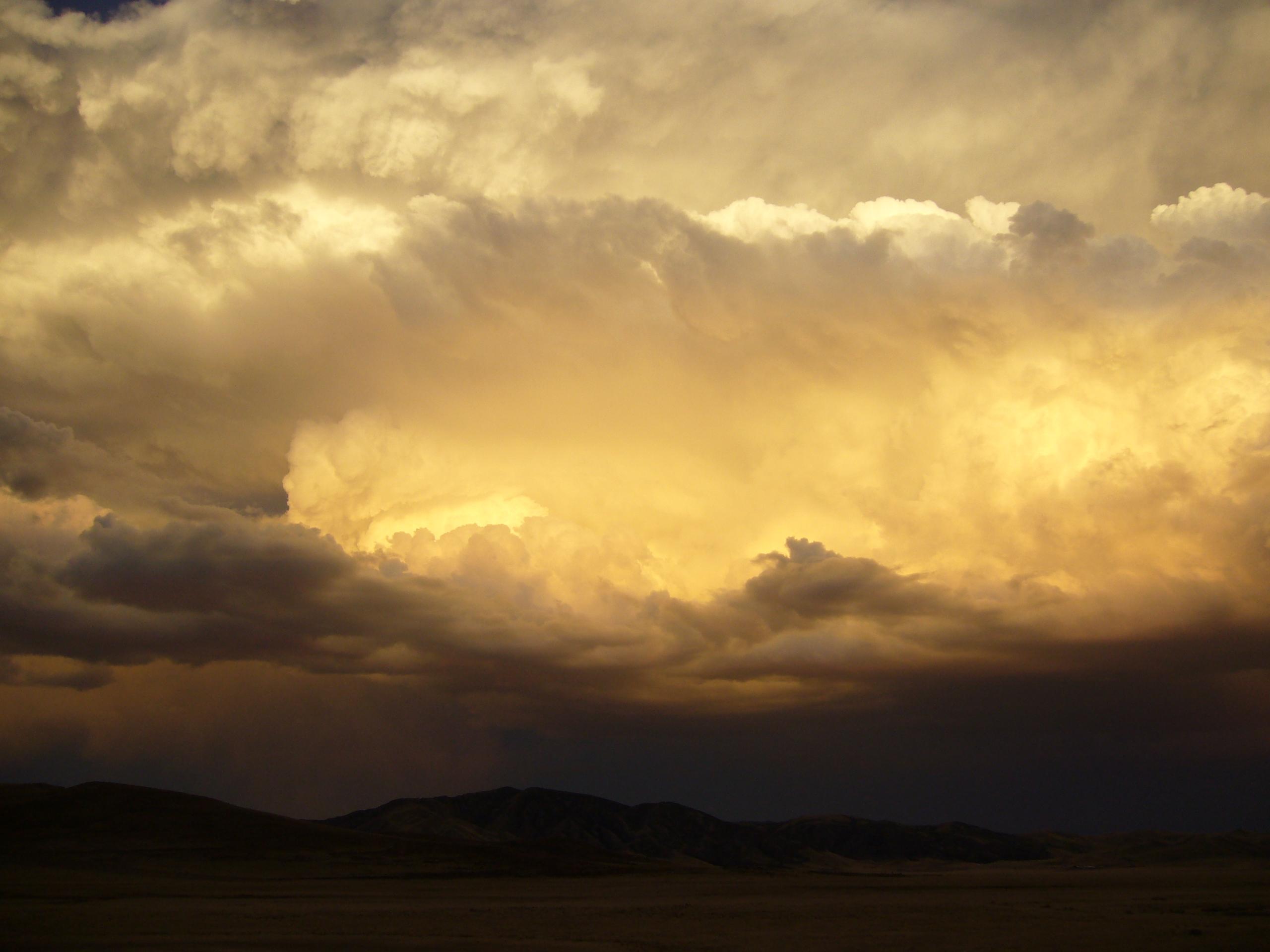 Radreise Peru 2008 - Altiplano - Gewitterstimmung