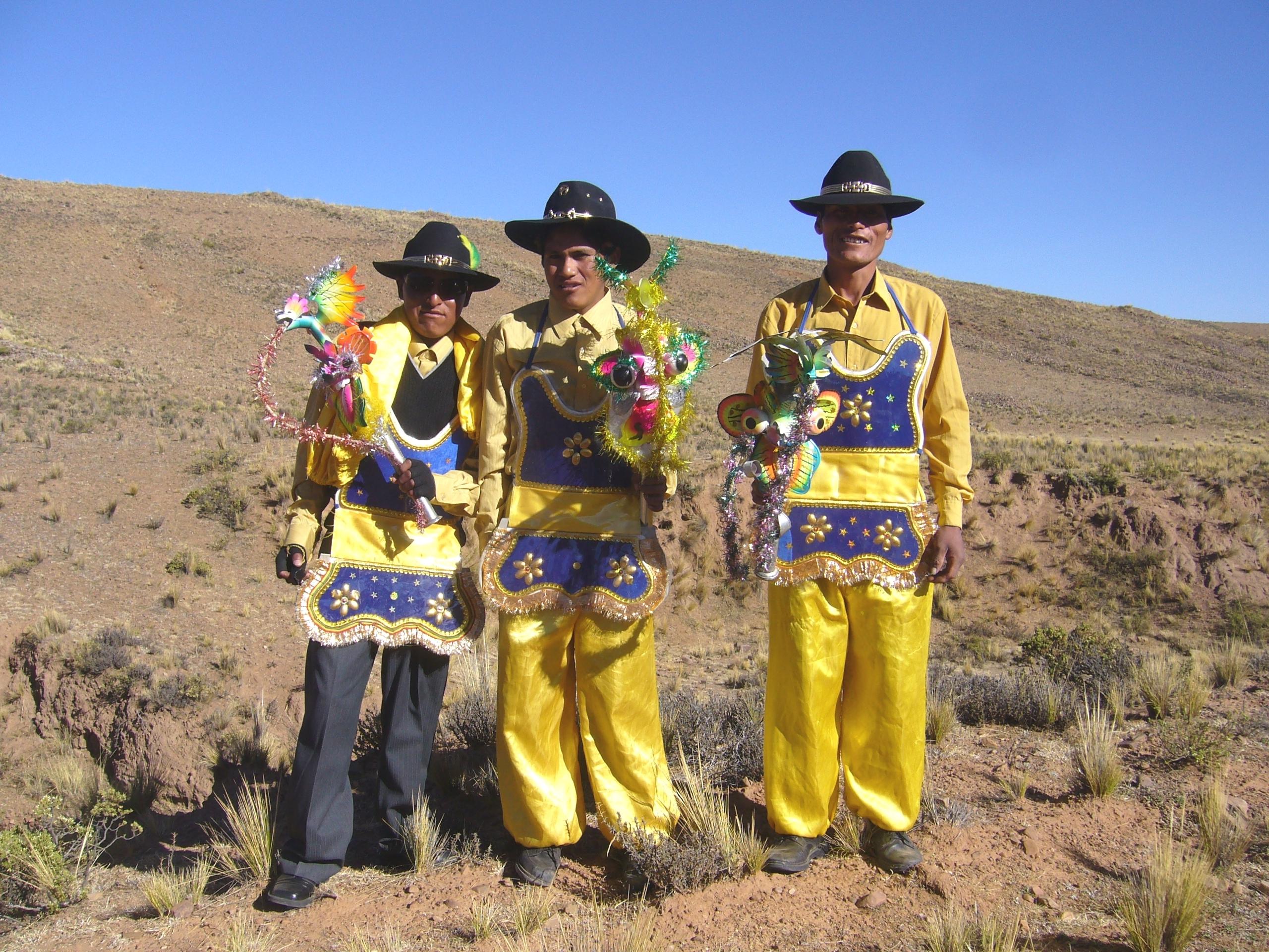 Radreise Peru 2008 - Besuch an meinem Zeltplatz
