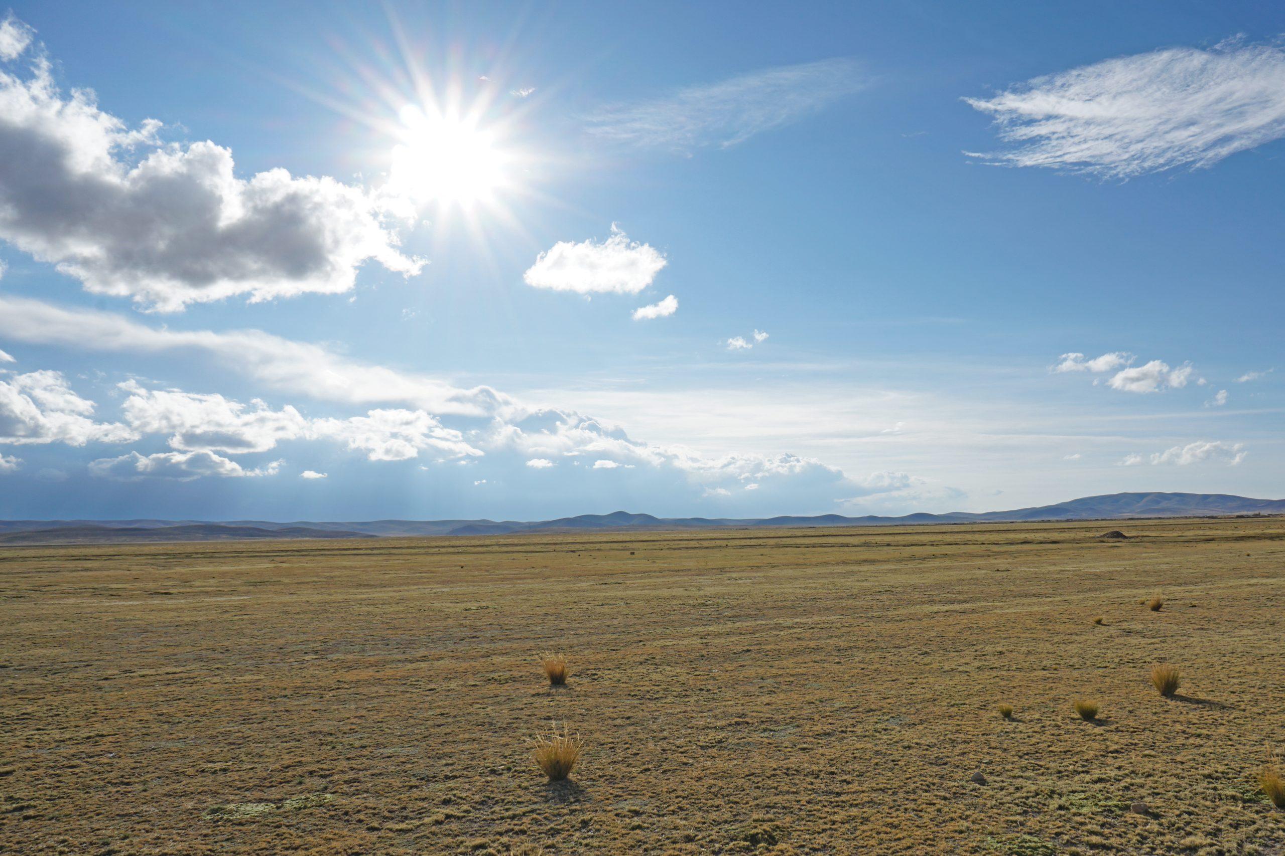 Radreise Südamerika 2019 - Sonnenschein auf dem Altiplano