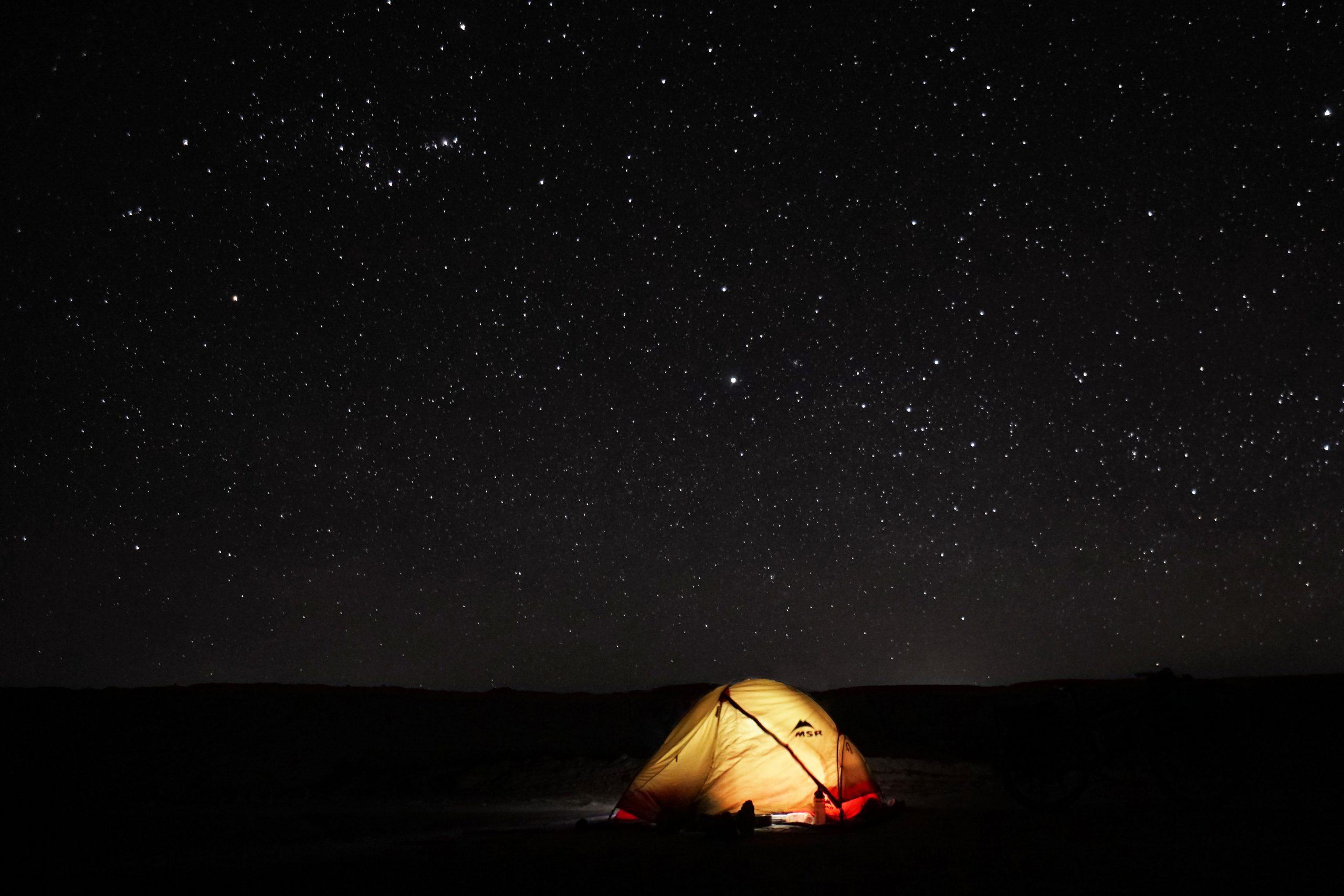 Radreise Südamerika 2019 - Atacama - Sternenhimmel über meinem Zeltplatz